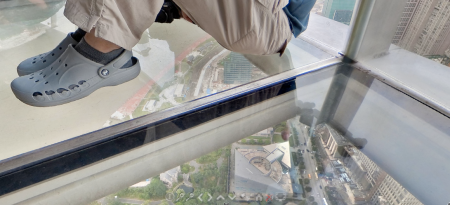 Shanghai's Oriental Pearl TV Tower Skywalk