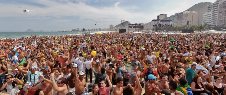 Rio2016 at Copacabana Beach - Victory for the Olympic  Games
